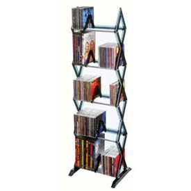 Atlantic® Mitsu 5 Tier Media Rack For 130 CDs or 90 DVDs and Blu-Ray in Smoke