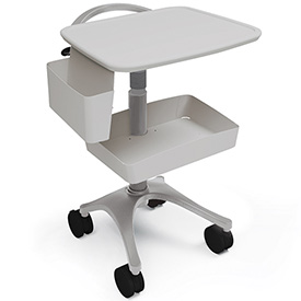 Ergotron® Zido® EKG Medical Cart, Cool Gray