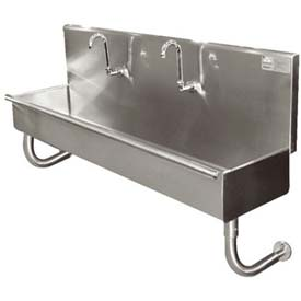 "Multi Station Wall Mounted Hand Sink, 96"" Overall Length"