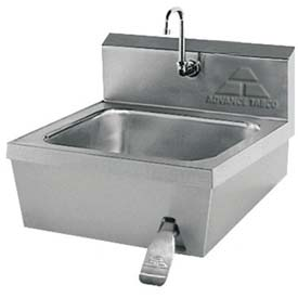 Hands Free Knee Operated Hand Sink, Large 16x14x6 Bowl