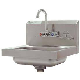 Wall Mounted Hand Sink, Splash Mounted Faucet Standard Unit, 20 Ga.