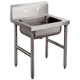 Freestanding Mop Sink, One Compartment, 16L x 20W x 8H Bowl, 304 Stainless Steel