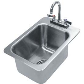 Drop In Sink, One Compartment 10L x 14W x 10D Bowl, 20 Gauge