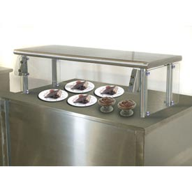 "Self Service Food Shield, 15""W x 144""L x 26""H, S/S Top and Center Shelves, Double Tier"