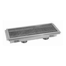 Floor Trough, 108L x 12W x 4H, Fiberglass Grate Double Drain