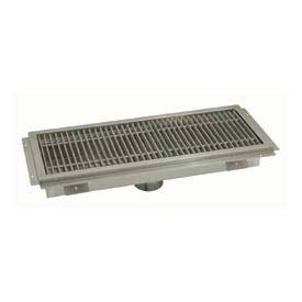 Floor Trough, 36L x 18W x 4H, Fiberglass Grate Single Drain