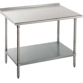 "Advance Tabco FLG-306 72""W x 30""D Work Table With Adjustable Undershelf, Galvanized"