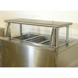 "Cafeteria Food Shield, Stainless Steel Shelf, 15"" x 96""L, 18""H"