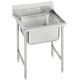 Regaline T9 Series 1 Compartment Sink, 16L x20W Bowl, 8 Splash, No Drainboards, 16Ga.