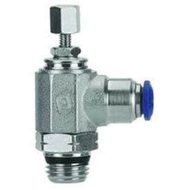 "Alpha Fittings Needle Valve 50925N-6-1/8, Knob Adj, Flow Bi-Direc, 6mm, 1/8""Swift-Fit Universal - Pkg Qty 2"