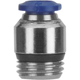 "Alpha Fittings Straight Male 87010-04-02, Internal Hex, 1/4"" Tube x 1/8"" Swift-Fit Universal Thread - Pkg Qty 5"