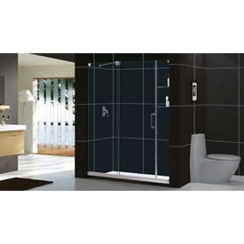 "DreamLine™ Mirage Frameless Sliding Shower Door SHDR-19607210-04, 56""-60"" x 72"""