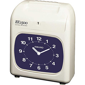 Amano Electronic Time Clock, White, BX-1500/2663 by