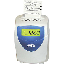 Amano Calculating Time Clock, Blue/White, MRX-35/A140 by