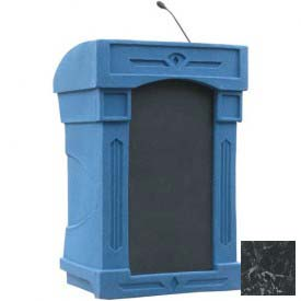 Summit™ DaVinci Integrator Podium / Lectern, Blue Granite Shell / Black Marble Front Insert