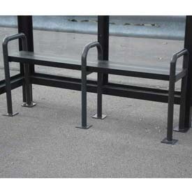 Anti Vagrant Bench for 10' Shelter, Bronze