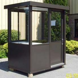 "Aluminum Outdoor Guard Booth, 4' x 6' x 7' 6"", Bronze"