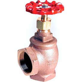 """American Valve 14n-3/4 Angle Valve, With Fip Threaded Ends, 3/4"""", Bronze - Pkg Qty 6"""