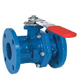 "American Valve 3700-6 Ball Valve, Flanged, 6"", Epoxy Coated Cast Iron"