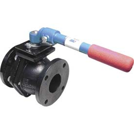 "American Valve 4000-1-1/2 Ball Valve, Flanged, 1-1/2"", Cast Iron"