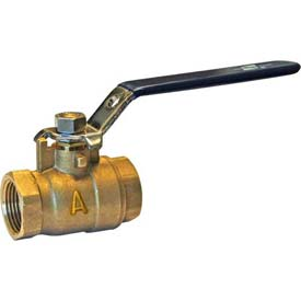"American Valve M100-2 Ball Valve, Threaded, 2"", Brass - Pkg Qty 4"