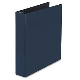 "Durable Slant Ring Reference Binder 1-1/2"" Capacity, Blue"