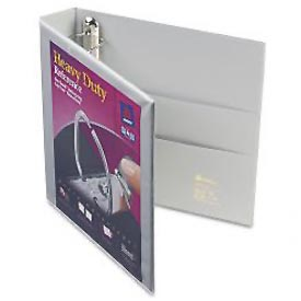 "Nonstick Heavy-Duty Ezd Reference View Binder, 1-1/2"" Capacity, Gray"