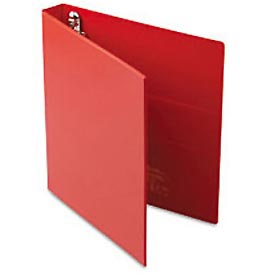 "Heavy-Duty Vinyl Ezd Ring Reference Binder, 1"" Capacity, Red"