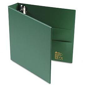 "Heavy-Duty Vinyl Ezd Ring Reference Binder, 1-1/2"" Capacity, Green"