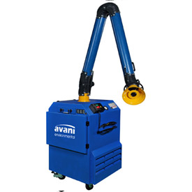 "Avani SPC-1000 Portable Filtration Unit w/ 10'L x 8""D Powder Coated Steel Arm"