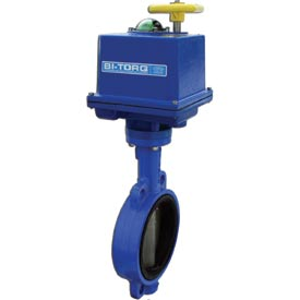 "BI-TORQ 2"" Lug Style Butterfly Valve W/ Buna Seals and NEMA 4 115VAC Electric/4-20mA"