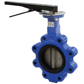 "5"" Lug Style Butterfly Valve W/ EPDM Seals; Includes 10 Position Handle"