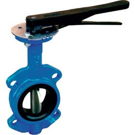 "4"" Wafer Style Butterfly Valve W/ EPDM Seals and 10 Position Handle"