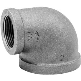 Anvil 1-1/2 In. X 1 In. Black Malleable 90 Elbow