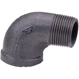 Anvil 3/4 In. X 1/2 In. Black Malleable 90 Street Elbow