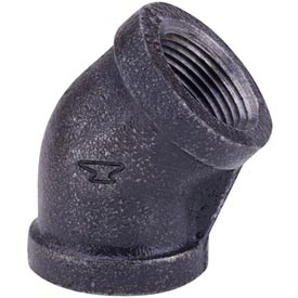 Anvil 1 In. Black Malleable 45 Elbow