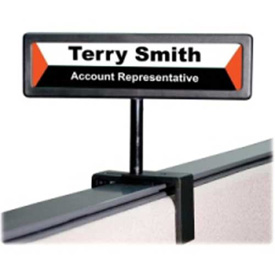"Advantus Nameplate Cubicle Sign 13/16"" x 4"" Black by"