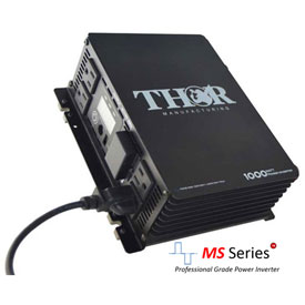 THOR THMS1000, 1000 Watt Continuous/2000 Watt Max Power, 12 Volt Modified Sine Wave Power Inverter by