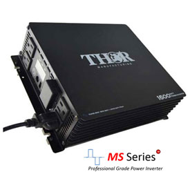 THOR THMS1500, 1500 Watt Continuous/3000 Watt Max Power, 12 Volt Modified Sine Wave Power Inverter by