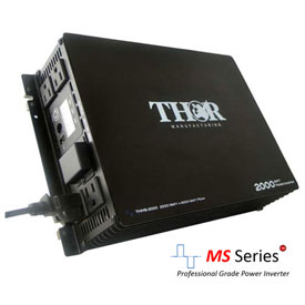 THOR THMS2000, 2000 Watt Continuous/4000 Watt Max Power, 12 Volt Modified Sine Wave Power Inverter by