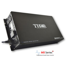 THOR THMS3000, 3000 Watt Continuous/6000 Watt Max Power, 12 Volt Modified Sine Wave Power Inverter by