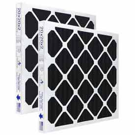"""Airex® 18"""" x 25"""" x 2"""" 100% All Carbon Pleated Filter, MERV 8, High Quality  - Pkg Qty 12"""