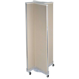 "Azar Displays 700421-ALM, Pinwheel Pegboard Display W/Wheels, 16""W x 60""H, Almond, 1 Pc"