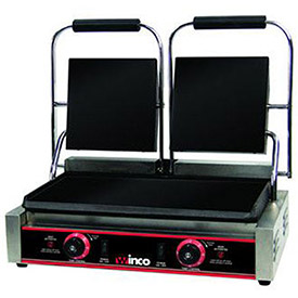 "Winco ESG-2 Electric Sandwich Grill, Flat Plates, 9"", 2 Sets by"