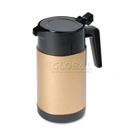 Poly Lined Black/Gold Carafe with Snap-Off Lid, 40 oz. Capacity