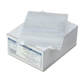 "Resealable 1 Quart Storage Bags 7"" x 8"" 500 Pack Clear"