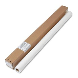 """Table Set® Plastic Banquet Roll Table Cover, Cut to Fit 40"""" x 100 ft., White"""