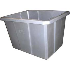Bayhead Poly Bin Bulk Container PB-18 Smooth Inside Wall, 18 Bushel, Gray