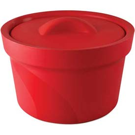 Click here to buy Bel-Art Magic Touch 2 Ice Bucket with Lid 168072003, 2.5 Liter, Red, 1/PK.