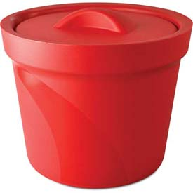 Bel-Art Magic Touch 2 Ice Bucket with Lid 168074003, 4.0 Liter, Red, 1/PK by
